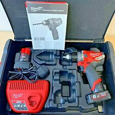 Milwaukee M12FPD-602X 12V Percussion Drill With 2 x 6.0Ah Battery Charger & Case
