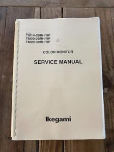Vintage Ikegami TM14-20RH TM20-20RH CRT Service Manual
