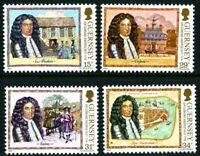 GUERNSEY 1987 Sir EDMUND ANDROS SET OF ALL 4 COMMEMORATIVE STAMPS MNH