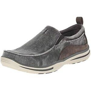 Skechers Men's Relaxed Fit Elected Drigo Slip-On Loafer,Charcoal,12 3E US