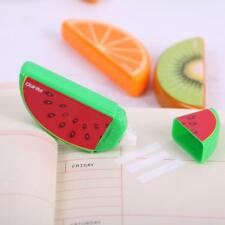 3PCS Cute Fruit Correction Tape Plastic Material Correction Tape Kawaii Statione