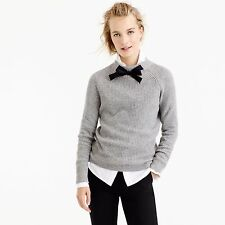 NWT J.crew Gayle Tie-Neck Sweater XL Heather Graphite