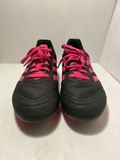 Adidas Youth Girls Soccer Cleats Shoes Size US 3 Black/Pink