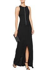 $535 NWT T BY ALEXANDER WANG Black Convertible cady wrap dress Sz US4