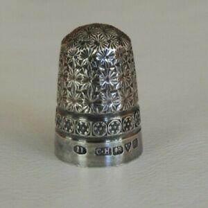 Antique Thimble Sterling Silver CH. Charles Horner Ltd. Chester Rosette Knur #89
