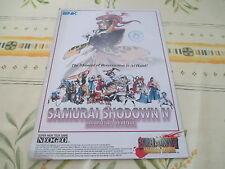 > SAMURAI SHODOWN IV 4 NEO GEO SNK ARCADE ORIGINAL USA HANDBILL FLYER CHIRASHI <