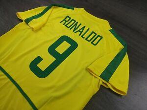 [Retro] - Brazil Home Winner Champion Fifa Worldcup 2002 with 9 RONALDO Size M
