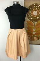 Gorgeous Cue Dress, Size 6, Black and Apricot, Cotton Blend, Fit & Flare