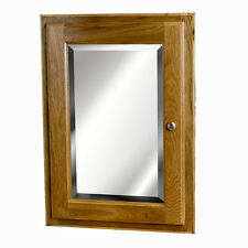 19 X26 Oak Medicine Cabinet with mirror