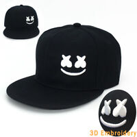 SNAPBACK HAT Marshmello Baseball Cap Embroidery Alone Smiling Face Hip Hop Hat