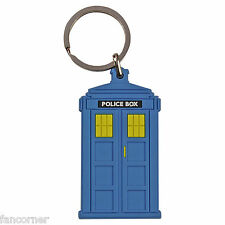 Dr who porte cles Police box en pvc Dr Who police call box keyring
