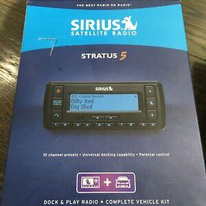 Sirius Stratus 5 Satellite Radio  And Vehicle Kit New In Open box