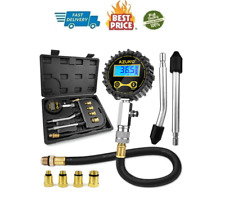 Petrol Engine Small Engine Cylinder Compression Tester,200 PSI with Adapter&Hose