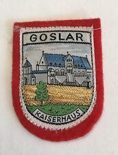 Vintage German Souvenir Patch Goslar Kaiserhaus Germany