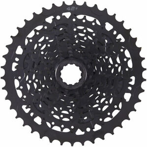 NEW microSHIFT ADVENT Cassette - 9 Speed 11-42t Black ED Coated Alloy Large Cog