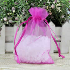 "3x4"" Hot Pink ORGANZA FAVOR BAGS Wedding Party Reception Gift Favors- 100pcs"
