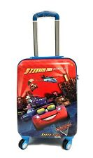 """Children Kids Holiday Travel Suitcase Luggage Trolley Bags 18"""" Disney Cars RED"""