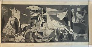 "mid century PICASSO GUERNICA ART PRINT LAMBERT STUDIOS 38 x 18"""