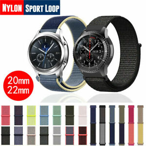 20/22mm Nylon Sport Loop Band Strap for Samsung Galaxy Watch 44/40mm Active 2 S3