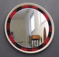 Spiegel Wandspiegel Karomuster Rockabilly 50er 50s 60er 60s Design vtg vintage