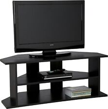Latest Large Corner TV Unit- Black Suitable for screen sizes up to 30(in)