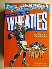 GREEN BAY PACKERS BRETT FAVRE 3 TIME MVP  WHEATIES BOX 1999 - E