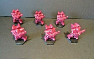Red Marine Space Rangers x6 Great for Practice Painting Warhammer 40k Miniatures