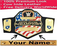 WWE United States Championship Replica Title Belt (2014) + Customized Name Plate