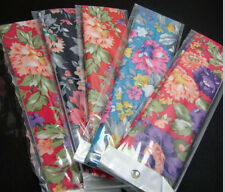 "5 Gorgeous Floral Designed Headbands 2"" wide continuous stretch LOT Nylon colors"