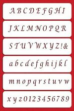 Calligraphy Alphabet & Numbers Stencil by Designer Stencils #C045