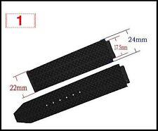24MM BLACK  WATCH BAND STRAP FOR Hublot Big Bang HUBLOT