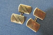 double faced cufflinks Art Deco gold coloured