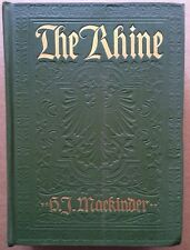 Antique THE RHINE Illustrated in Color Book Germany First Edition Folding Maps