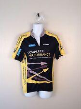 Tineli Black & Yellow 3/4 Zip Cycle Columbia Performance Bike Jersey Men Sz XL