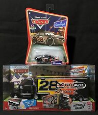 NEW -  NITROADE HAULER #8 Semi Truck + CAR - Pixar CARS Race O Rama SUPERCHARGED