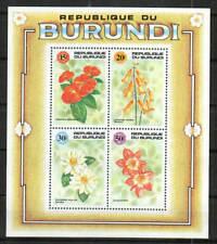 Burundi Stamp - Flowers Stamp - NH