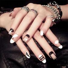 Ladies Press On Nails Manicure Full Fake Nail Accessories Fingernails Art 24pcs