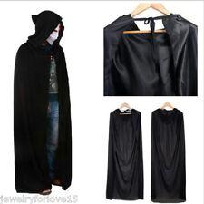 FL:Schwarz Vampir Kostüm Umhang mit Kapuze Kapuzenumhang Allerheiligen Karneval