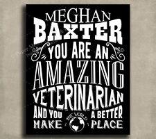 Veterinarian Amazing Custom Plaque Tin Sign Gift For Vet Animal Care Giver Ke...