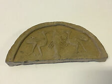 Antique Chinese Poss. Ancient Terra Cotta Temple Roof Tile 2 Birds Cranes & Fish