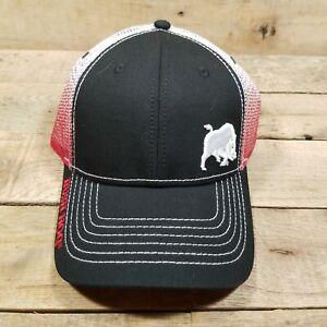BRUSH HOG FARM IMPLEMENT RED WHITE BLACK HAT W BORE PIG T1