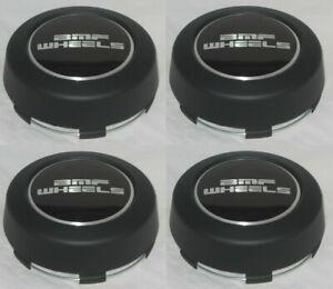 Fits All 5-Lug BMF Wheels Flat Black Custom Wheel Center Cap SET of 4