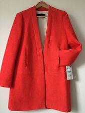 RRP £79 BNWT Zara Woman Coral Midi Coat Jacket Soft Cardigan Blogger Fav Size M