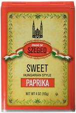 Pride of Szeged Sweet Paprika, Hungarian Style Seasoning Spice, 4 oz. Tin, 1-Cou