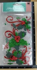 Jolee's Christmas FLOURISHES AND HOLLY Boutique Stickers CHRISTMAS FLOWERS PLANT