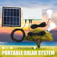 Portable Mini Power Station Generator Solar Light System Inverter Battery Bank