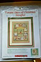 Twelve Days of Christmas Sampler Dimensions Cross Stitch Kit NEW