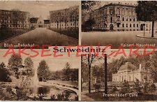 Ansichtskarten aus Schlesien mit Architektur/Bauwerk für Eisenbahn & Bahnhof