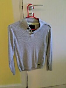 BOYS NEXT JUMPER ( CHEST 16 INCHES, LENGTH 19 INCHES) GREY