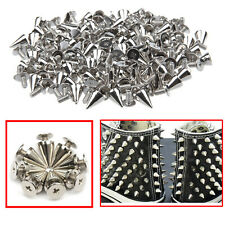 50pcs Screwback Punk Studs Spike Cone Rivets 8mm x 12mm for Fashion Clothes Bags